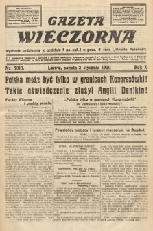 Gazeta Wieczorna. 1920, nr5010