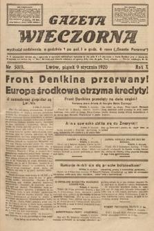 Gazeta Wieczorna. 1920, nr5019