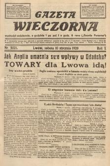 Gazeta Wieczorna. 1920, nr5021