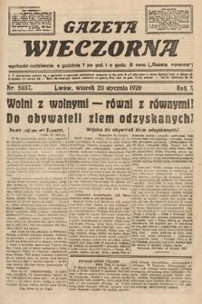 Gazeta Wieczorna. 1920, nr5037