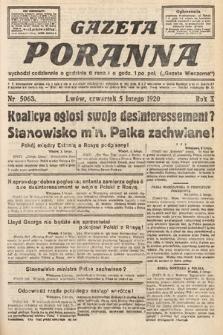 Gazeta Poranna. 1920, nr5063