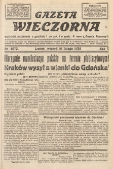 Gazeta Wieczorna. 1920, nr5072