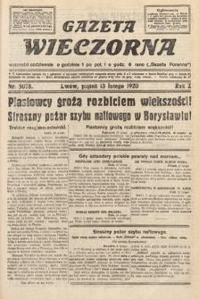 Gazeta Wieczorna. 1920, nr5078