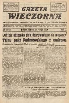 Gazeta Wieczorna. 1920, nr5080