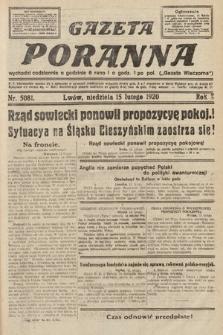 Gazeta Poranna. 1920, nr5081