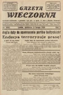 Gazeta Wieczorna. 1920, nr5082