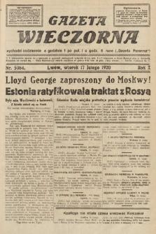 Gazeta Wieczorna. 1920, nr5084