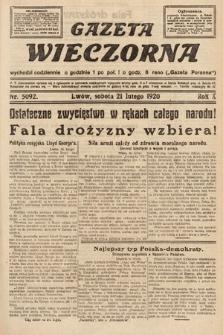 Gazeta Wieczorna. 1920, nr5092