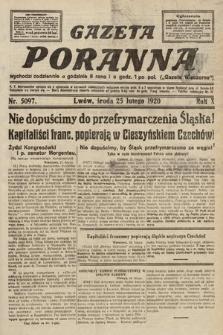 Gazeta Poranna. 1920, nr5097