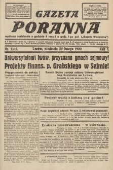 Gazeta Poranna. 1920, nr5105