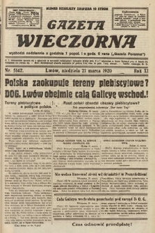 Gazeta Wieczorna. 1920, nr5142