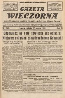 Gazeta Wieczorna. 1920, nr5151
