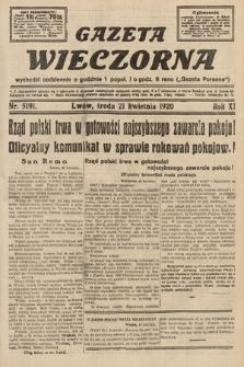 Gazeta Wieczorna. 1920, nr5191
