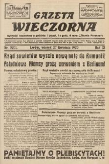 Gazeta Wieczorna. 1920, nr5201