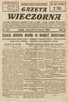 Gazeta Wieczorna. 1920, nr5271