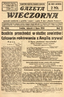 Gazeta Wieczorna. 1920, nr5314