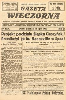 Gazeta Wieczorna. 1920, nr5336