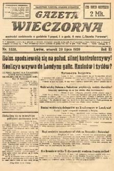 Gazeta Wieczorna. 1920, nr5338
