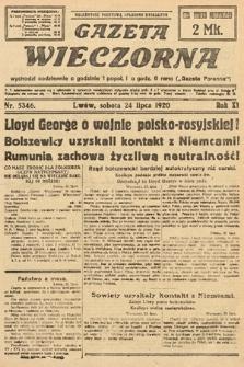 Gazeta Wieczorna. 1920, nr5346
