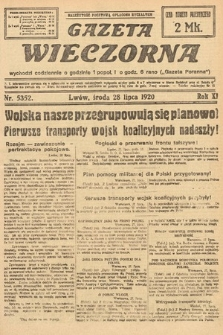 Gazeta Wieczorna. 1920, nr5352