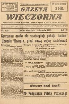 Gazeta Wieczorna. 1920, nr5384