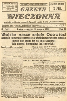 Gazeta Wieczorna. 1920, nr5402