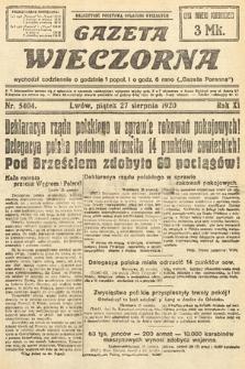 Gazeta Wieczorna. 1920, nr5404
