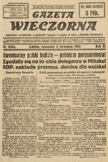Gazeta Wieczorna. 1920, nr5414