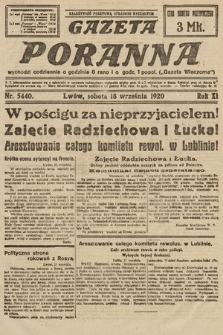 Gazeta Poranna. 1920, nr5440