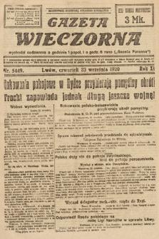 Gazeta Wieczorna. 1920, nr5449