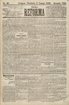 Nowa Reforma. 1889, nr40