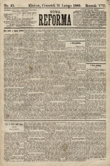 Nowa Reforma. 1889, nr43