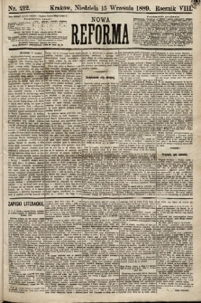 Nowa Reforma. 1889, nr212