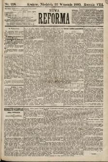 Nowa Reforma. 1889, nr218