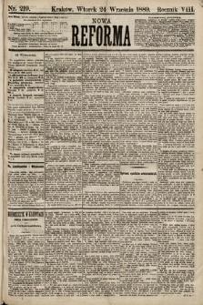 Nowa Reforma. 1889, nr219