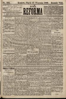 Nowa Reforma. 1889, nr222
