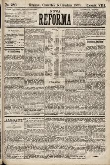 Nowa Reforma. 1889, nr280