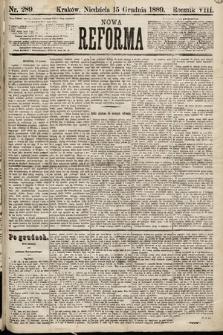 Nowa Reforma. 1889, nr289