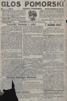 Głos Pomorski. 1923, nr1