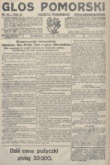 Głos Pomorski. 1923, nr14