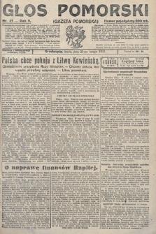 Głos Pomorski. 1923, nr41