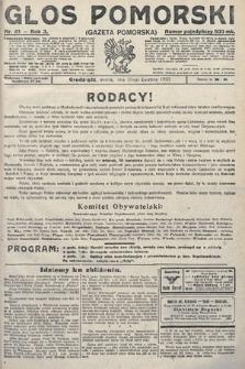 Głos Pomorski. 1923, nr81