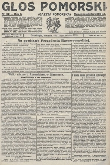 Głos Pomorski. 1923, nr92