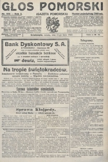 Głos Pomorski. 1923, nr164