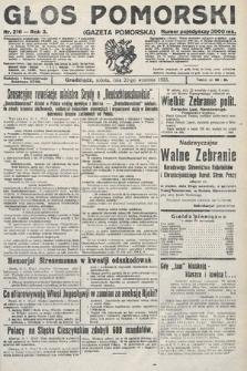 Głos Pomorski. 1923, nr216