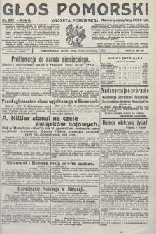 Głos Pomorski. 1923, nr221
