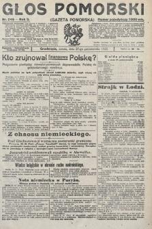 Głos Pomorski. 1923, nr246