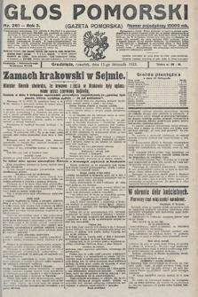 Głos Pomorski. 1923, nr261