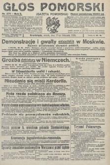 Głos Pomorski. 1923, nr271