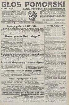 Głos Pomorski. 1923, nr272